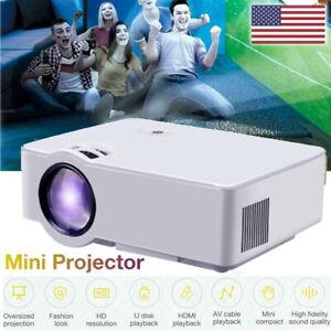 LED HD Projector Home Theater Cinema 3D Video Movie f/Phone  AV/USB/HDMI/TF/AUDIO | eBay