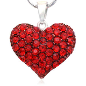 Small love red heart valentines day pendant necklace charm lady image is loading small love red heart valentine 039 s day aloadofball Image collections