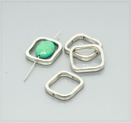 10 Cadre en Métal Perles Perles Zwischenteil Bijoux À faire soi-même Tibet Argent 20x22mm ms246