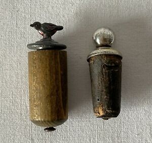 Pair Of Old Wooden Bottle Stoppers