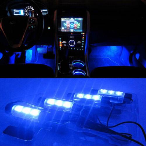 3LED Auto Ladung Innen Zubehör Boden dekorative Atmosphäre Lampe Licht Best  Fw