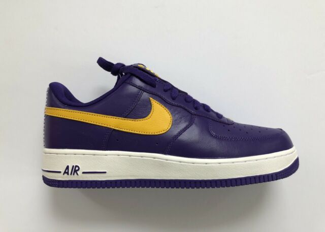 4f9f9560 Nike iD Los Angeles Lakers Air Force 1 AF1 Low NBA Pack AQ3998-993 Size 11