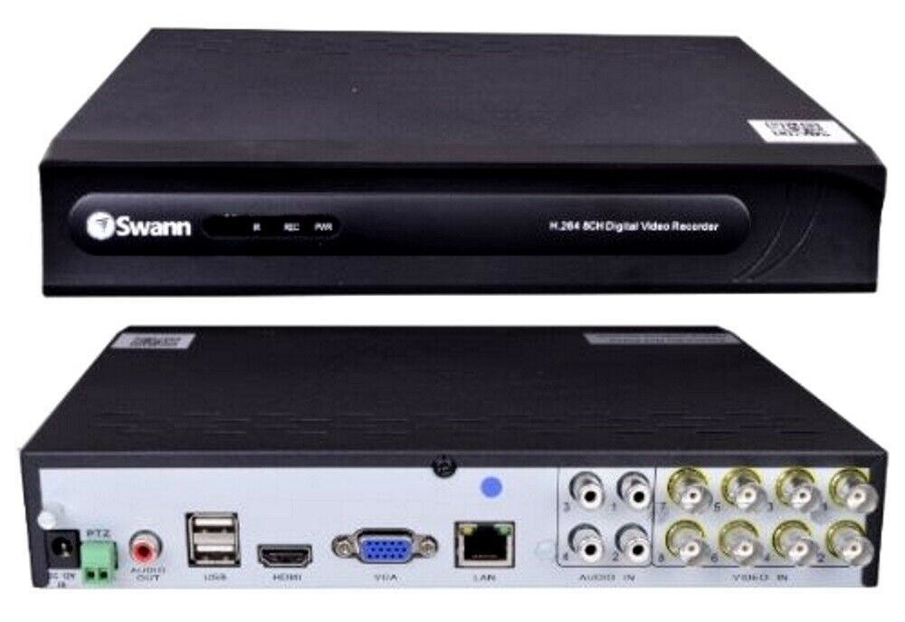 Swann SWDVR-81250H-wm  8-Channel DVR Digital Video Recorder  500GB Hard Drive