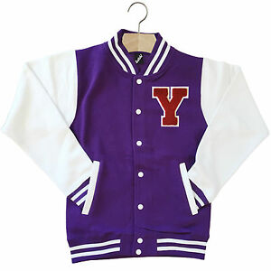 VARSITY BASEBALL JACKET UNISEX PERSONALISED WITH GENUINE US ...