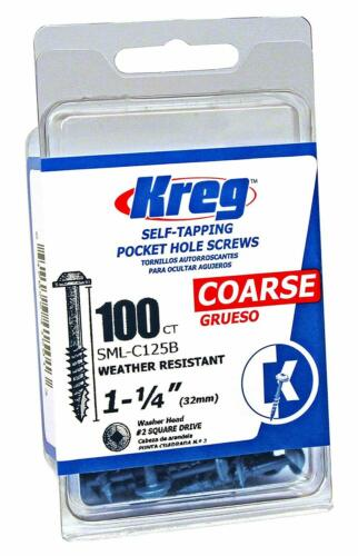 Kreg Sml-C125B-100 Blue-Kote Wr Pocket Screws 100 Pack 1-1//4-Inch