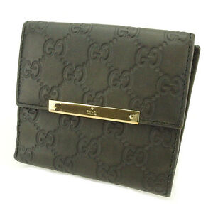 816e33f3b29 Gucci Wallet Purse Guccissima Grey Gold Woman unisex Authentic Used ...