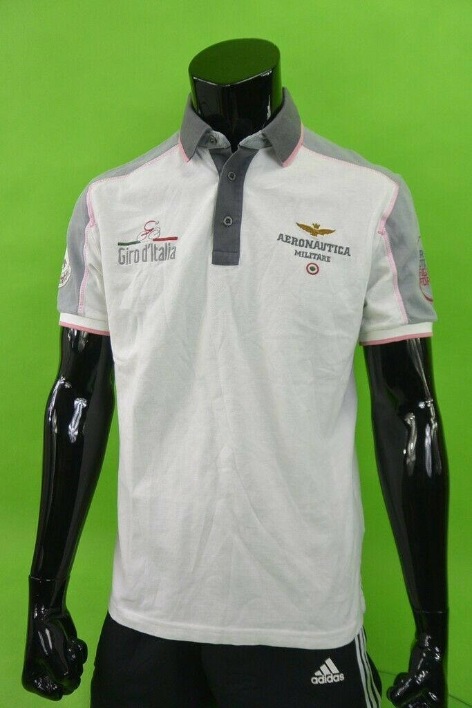 AeronautIca MILITARE Giro d'Italia Polo SS Bicycle Riders Shirt Slim Taille M Pour des hommes