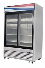 Atosa Mcf8709 Bottom Mount Two Sliding Glass Door Refrigerator
