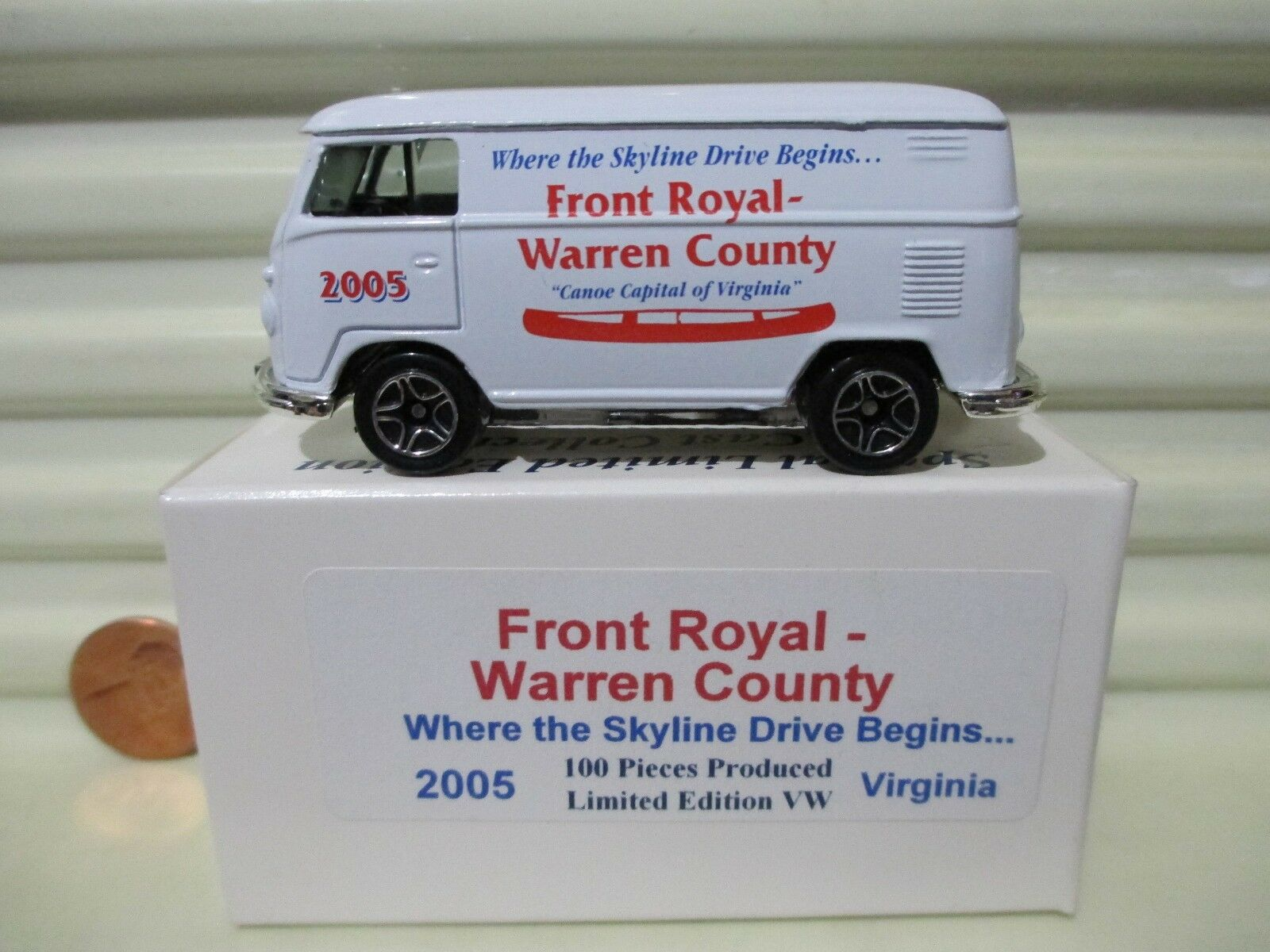 Matchbox 2005 FRONT ROYAL VIRGINIA VIRGINIA VIRGINIA VW VOLKSWAGEN VAN Nu Mint in MintBox 100 Made e19bac
