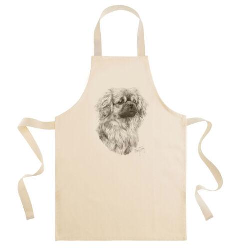 Mike Sibley Tibetan Spaniel Dog Breed Coton Drill Bib Tablier-Cook//chefs Cadeau