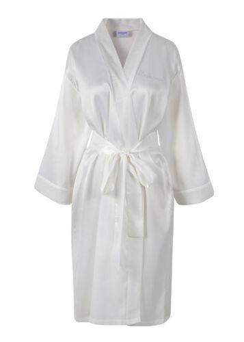 CRYSTAL Bridesmaid Satin Wedding day Bathrobe Kimono Dressing gown