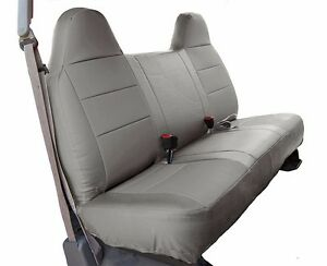 FORD F 250 350 GREY IGGEE SLEATHER CUSTOM FIT BENCH FRONT SEAT COVER