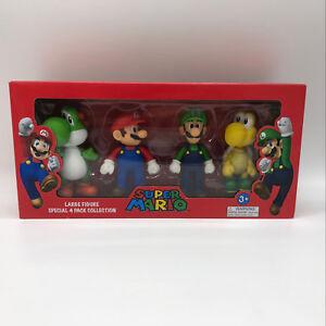 4pcs Super Mario Bros Luigi Mario Yoshi Koopa Troopa Plastic