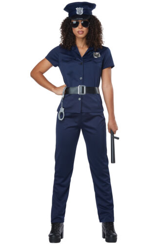 Classic Police Officer Cop Woman Adult Costume