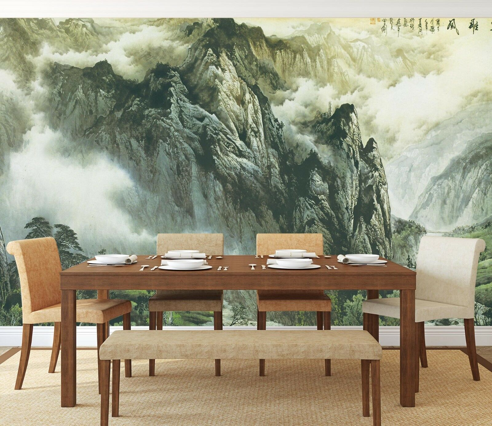 3D Green Mountain 952 Wallpaper Mural Paper Wall Print Indoor Murals CA Summer