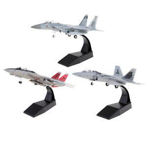 Am-ALS-2Pcs-1-100-Scale-Simulate-USA-F-14-F-15-Fighter-Diecast-Airplane-Model