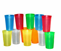 20-20 Oz Translucent Drinking Glasses Cups Mixed Colors Mfg Usa Lead Free