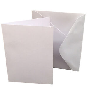 New-White-Blank-Card-A6-Size-105mm-x-148mm-amp-C6-Envelope-Pack-20-Cardmaking