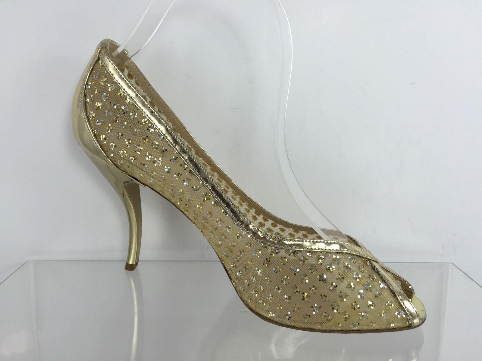 Delman damen Metallic Gold Heels Heels Heels 8 3cab8f