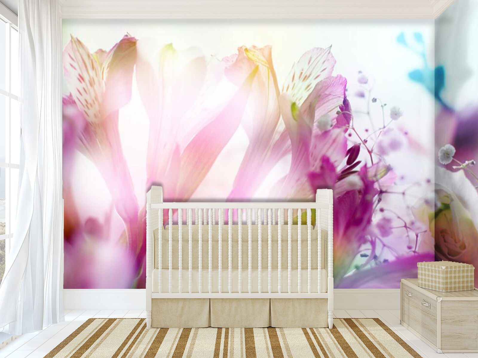 3D Sunshine, flowers 3 Wall Paper Wall Print Decal Wall Deco Indoor Wall Murals