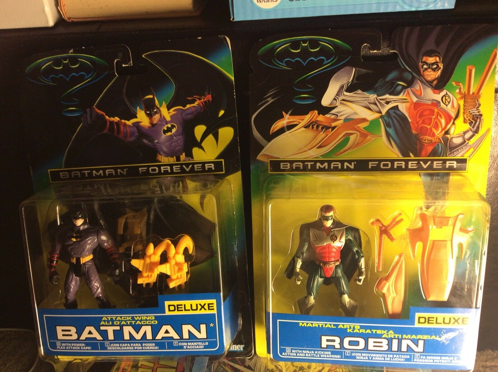 2 1995 Kenner Batman Forever Delux Figures Batman And Robin Duo Listing