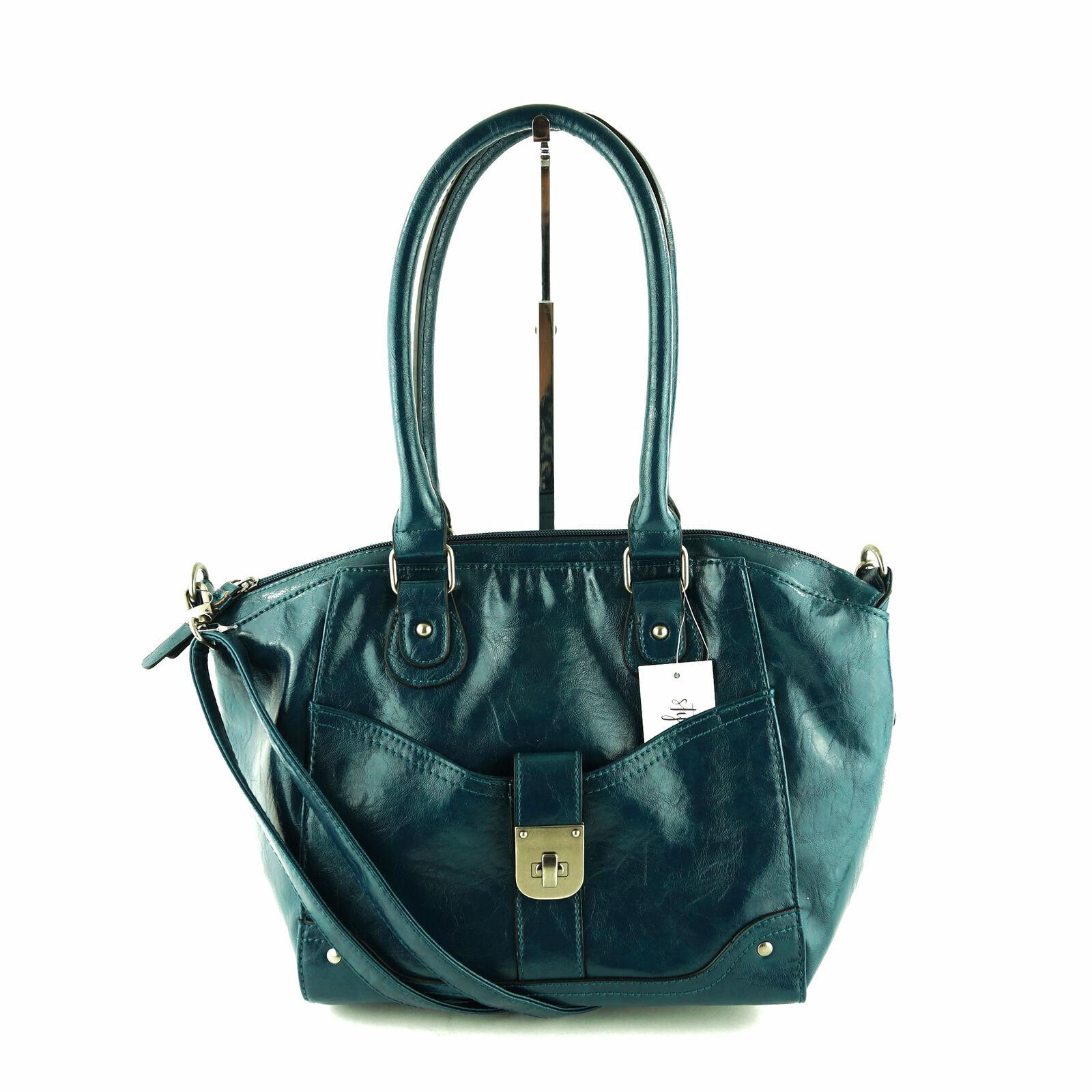 Style & Co. Twistlock Satchel Purse / Handbag , Storm