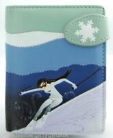 Small Ladies Fashion Wallet Purse -ski Girl Blue - Girls Womes Gift