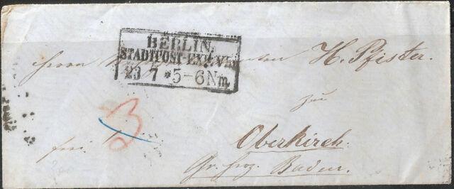 Vorphilatelie Altdeutschland  Siegel-Brief + Berliner Aufgabestempel Ra STPE VII