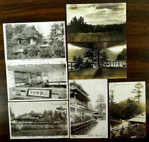 JAPAN-7-Postcards-3-are-real-photo-postcards-1924-NARA-OSAKA-hotel-shrine