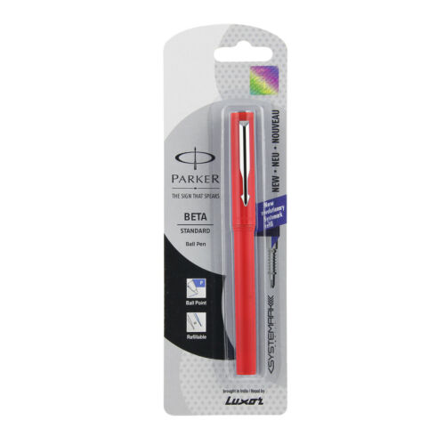 With New Systemark Refill Parker Beta Standard CT Ball Pen Red Special Gift