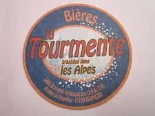 Beer Coaster ~ Brasserie Artisanale des GRAND COLS Tourmente ~ Briancon, FRANCE