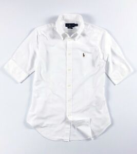 Ralph Lauren slim cropped sleeve Oxford Ladies Shirt  RRP £85