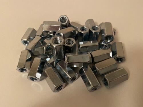 30 x M10 Studding Connectors BZP Zinc All Thread Hex Nut Rod Bar Job Lot Bundle