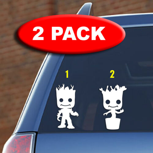 car marvel guardians of the galaxy laptop Little Groot -Vinyl decal 2 PACK