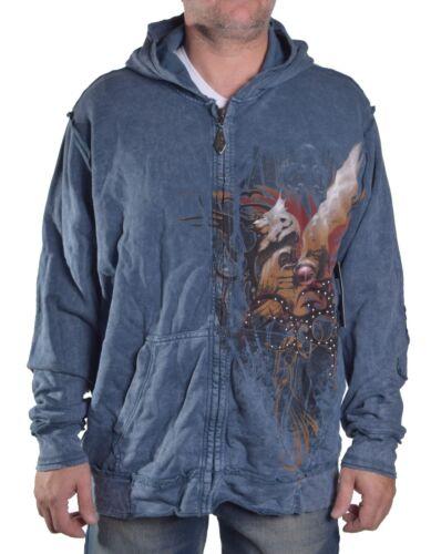 Brad Butter MEN/'S $118 Full Zip Gothique à Capuche Veste Choisir Style Taille /& Couleur