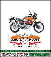 kit adesivi stickers compatibili xrv africa twin rd 03 rd 04 rd 07 repsol