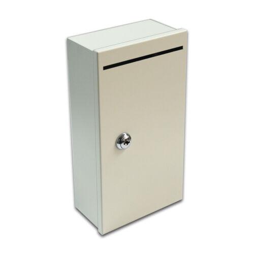"SD1053 5/"" Wall Mount Cheque Receipt Cash Key Card Drop Box Enclosure"