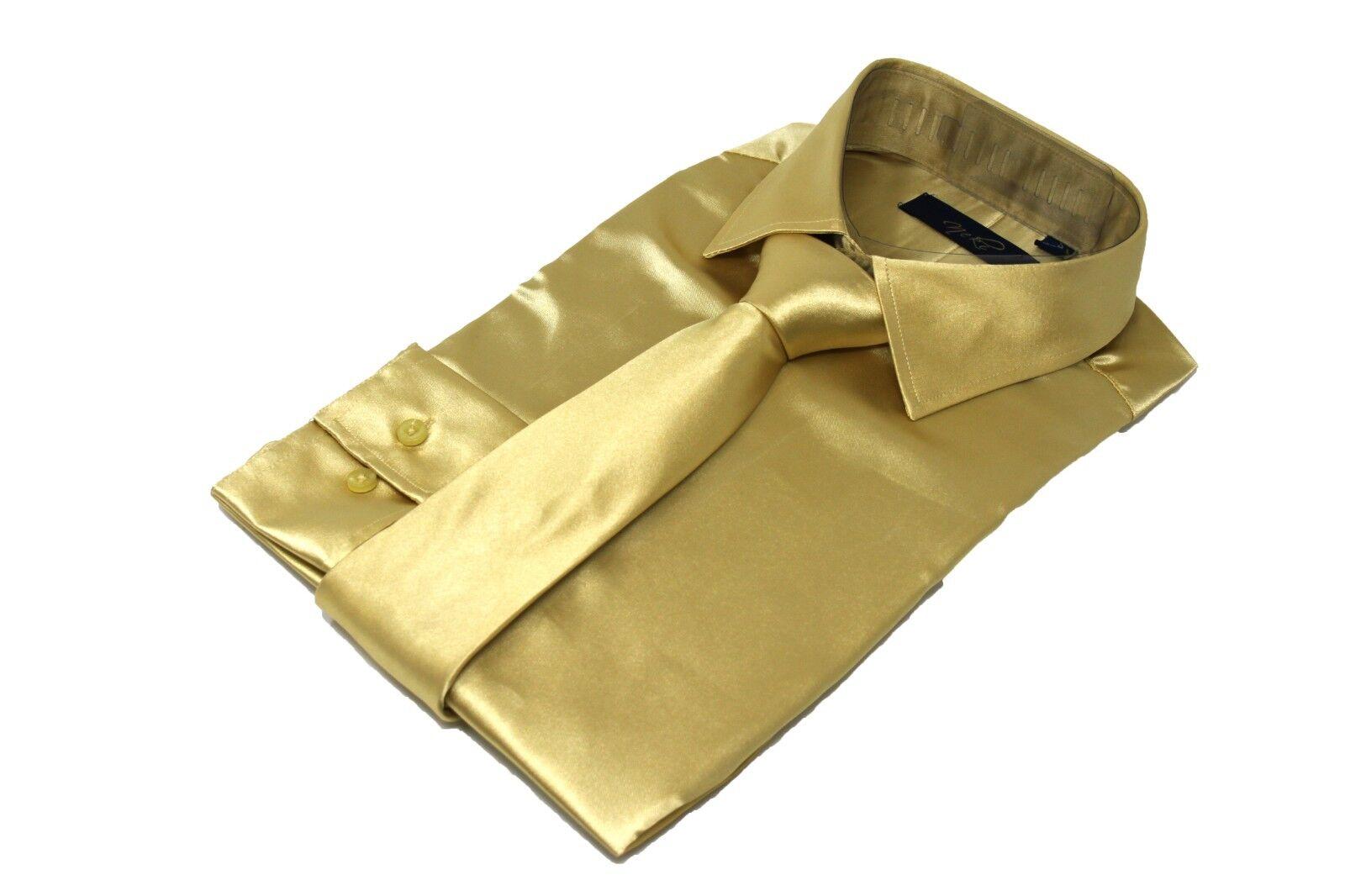 Mens Premium Premium Premium High Quality Double Cuff Satin Silk Look Dress Shirt All Größes UK | Günstige Bestellung  | Sonderkauf  a25cd6