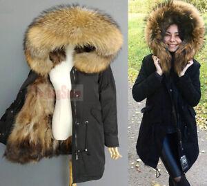 Fur Parka Coat Womens