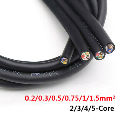 TRVV Cable Soft Silicone Rubber Cable 2//3//4//5 Core Tinned Copper High Temp Wire
