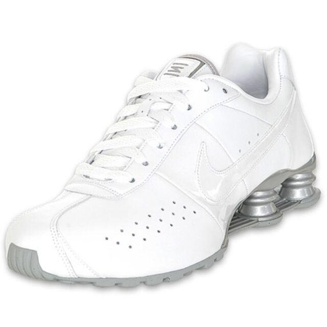 010bcd46155 Nike Shox Classic II 343900-111 White white-metallic Silver Mens Sz ...