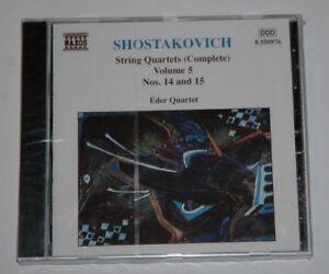CD-SEALED-NEW-SHOSTAKOVICH-STRING-QUARTETS-Volume-5-EDER-QUARTET-Naxos-8-550976