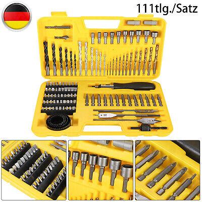 Schrauber Bits Und Bohrer Set 111 Tlg Spiralbohrer Holzbohrer Metall Stein Holz