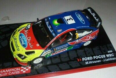 car 1//43 IXO ALTAYA FORD FOCUS WRC #3 FINLANDIA/'08 HIRVONEN//LEHTINEN NEW BOX