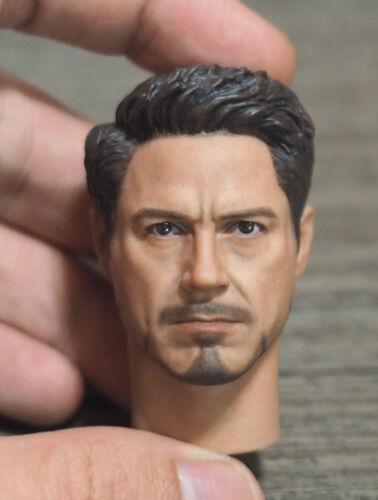 Supreme 1//6 Scale Civil War Tony Stark Head Sculpt for Hot Toys Figure Body