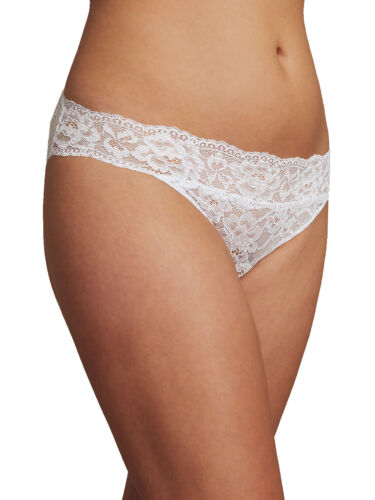 M /& S Size 12 Lace High Leg Knickers Panties Briefs White