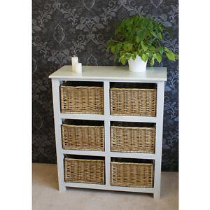 Merveilleux Image Is Loading Practical Gloucester 6 Basket Drawer Storage Unit Chest