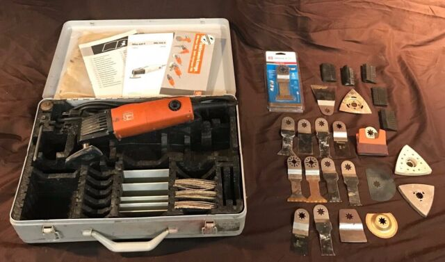 Fein Multimaster MSxe 636 II XL Variable Speed Kit w/Several Attachments &  Case