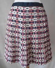 625122fbd item 1 J Crew Pleated A-Line Mini Skirt Sz 0 XS 100% Silk Geometric Navy  Pink White -J Crew Pleated A-Line Mini Skirt Sz 0 XS 100% Silk Geometric  Navy Pink ...