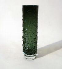 60s Gralglas Vase Emil Funke Glas H 25 cm OP Art Relief glass verre annees 60